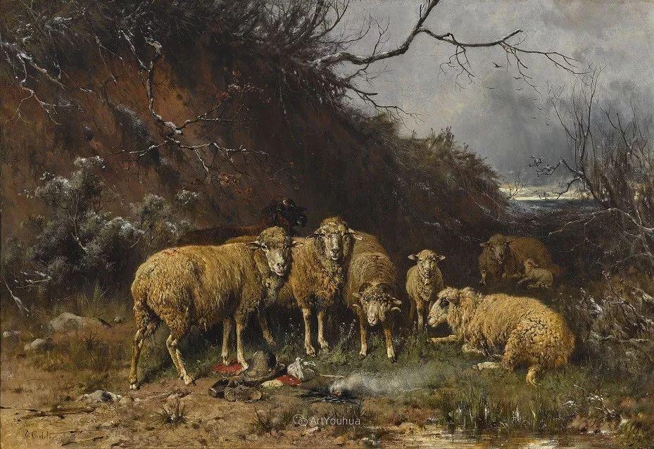 这些绵羊很惹人爱,德国艺术家Friedrich Otto Gebler插图18