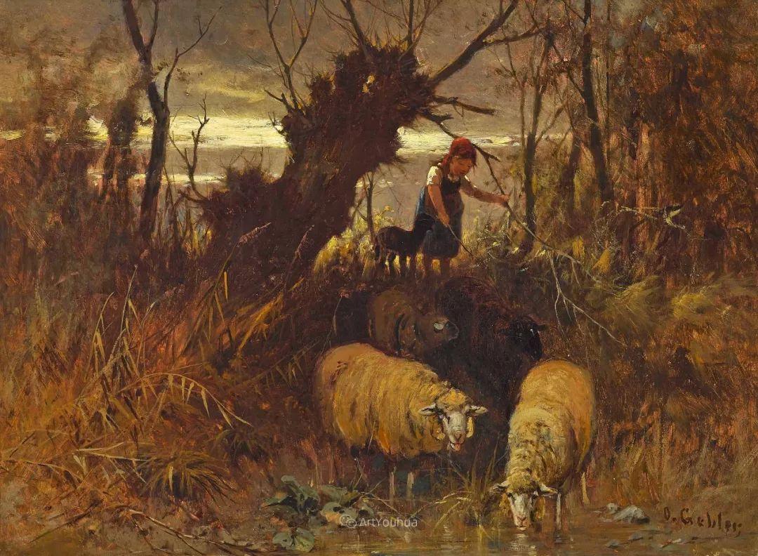 这些绵羊很惹人爱,德国艺术家Friedrich Otto Gebler插图10
