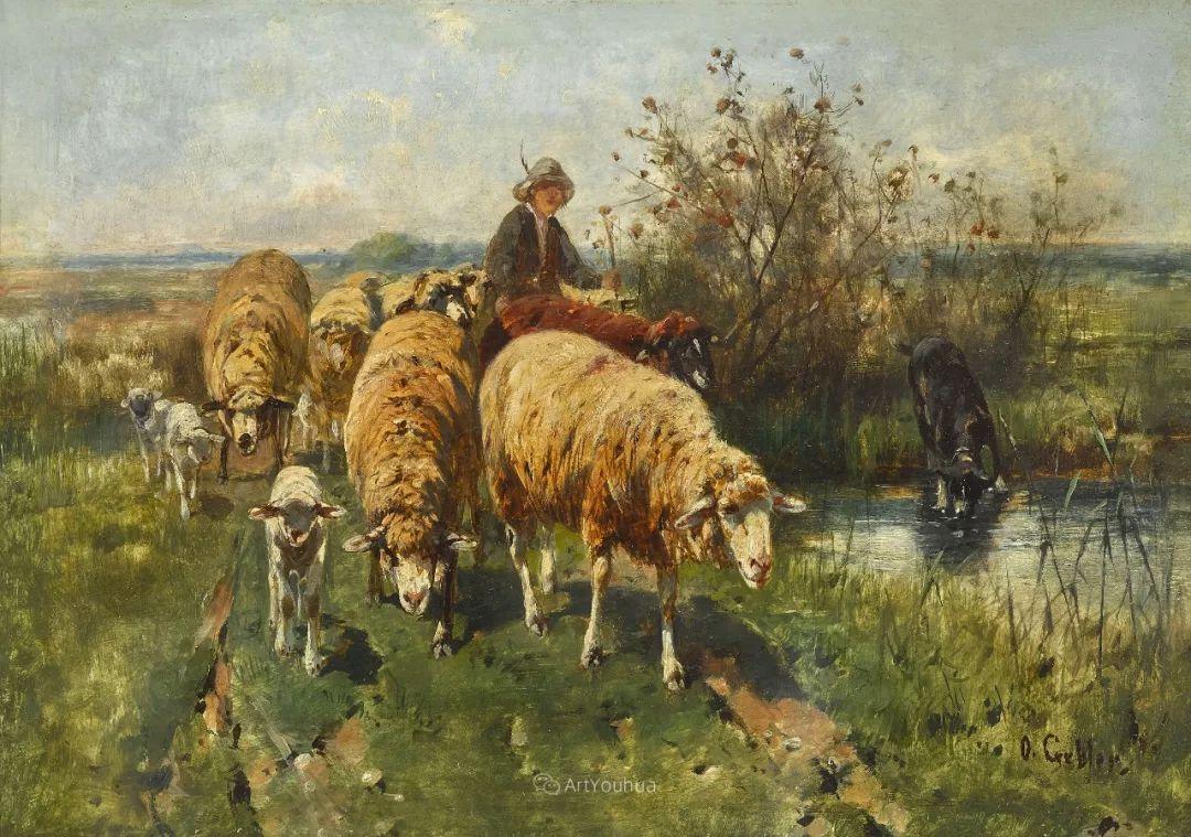 这些绵羊很惹人爱,德国艺术家Friedrich Otto Gebler插图11