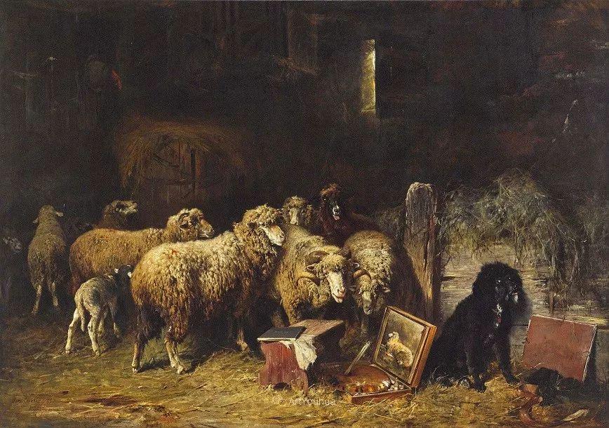 这些绵羊很惹人爱,德国艺术家Friedrich Otto Gebler插图24