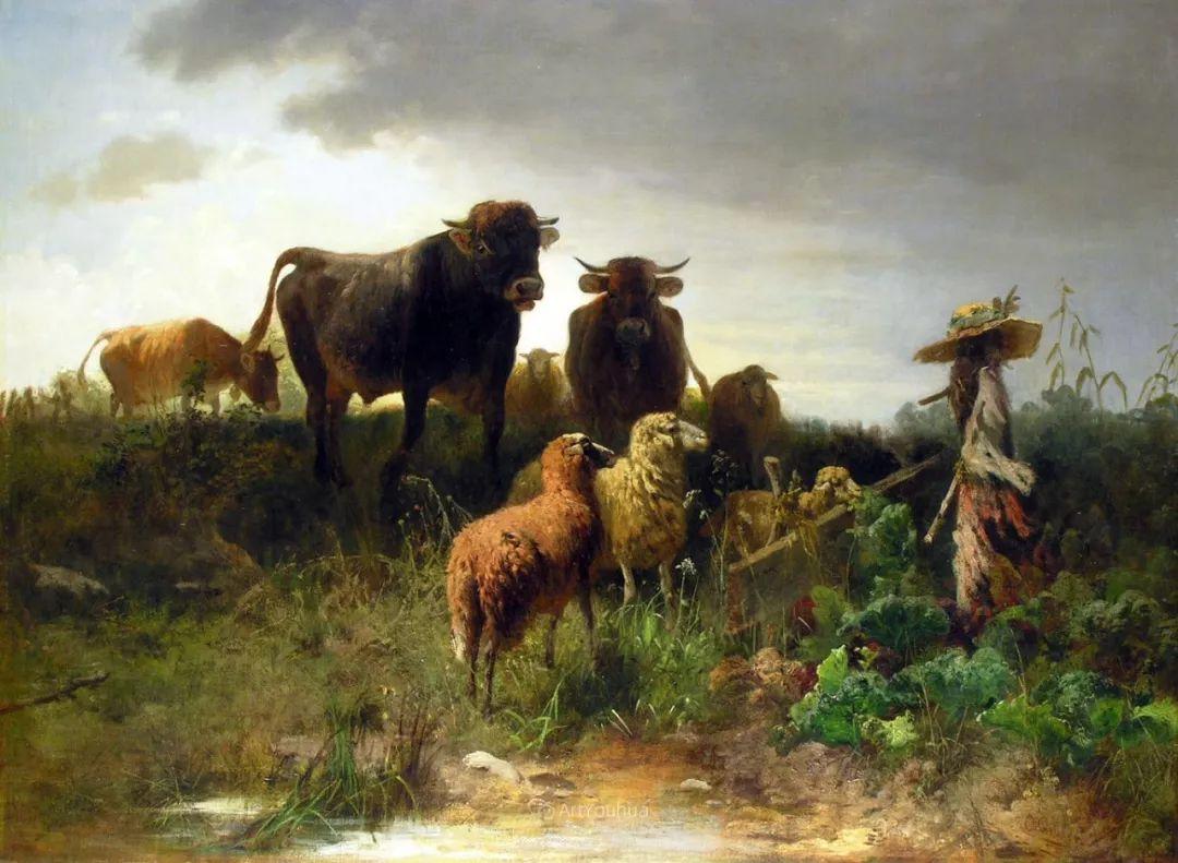 这些绵羊很惹人爱,德国艺术家Friedrich Otto Gebler插图13