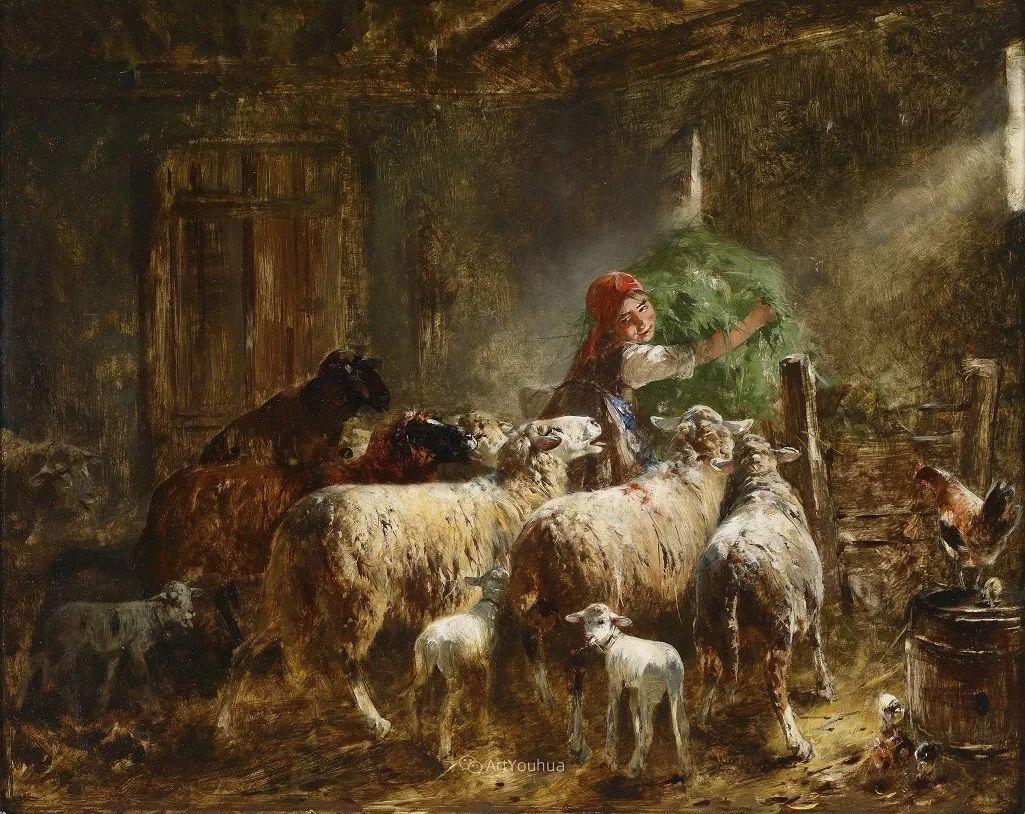 这些绵羊很惹人爱,德国艺术家Friedrich Otto Gebler插图30