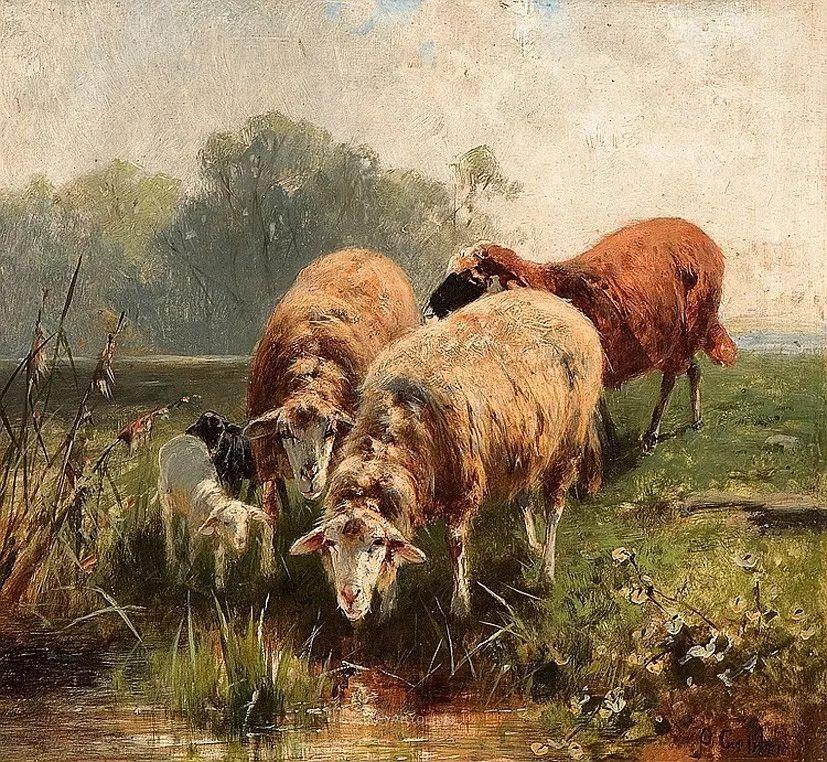 这些绵羊很惹人爱,德国艺术家Friedrich Otto Gebler插图34
