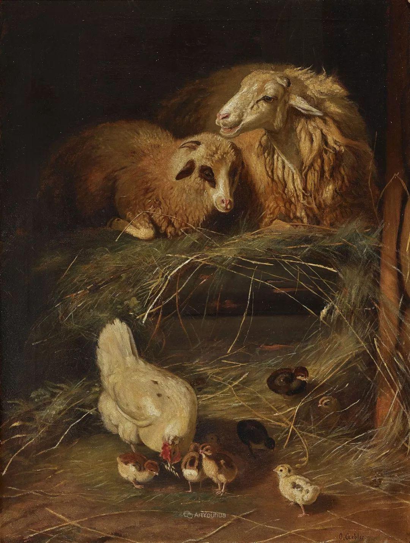 这些绵羊很惹人爱,德国艺术家Friedrich Otto Gebler插图38