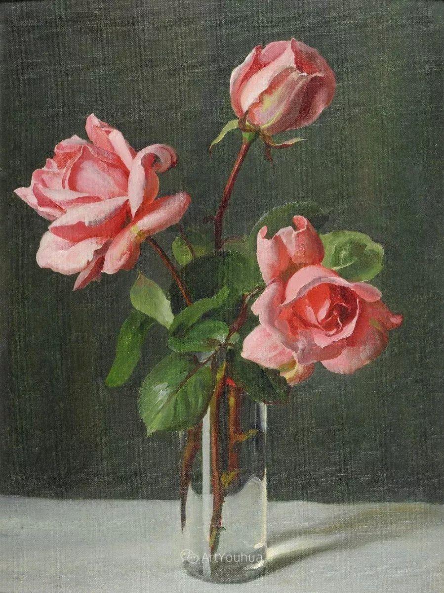 淡雅花卉静物,英国艺术家John Bulloch Souter插图12