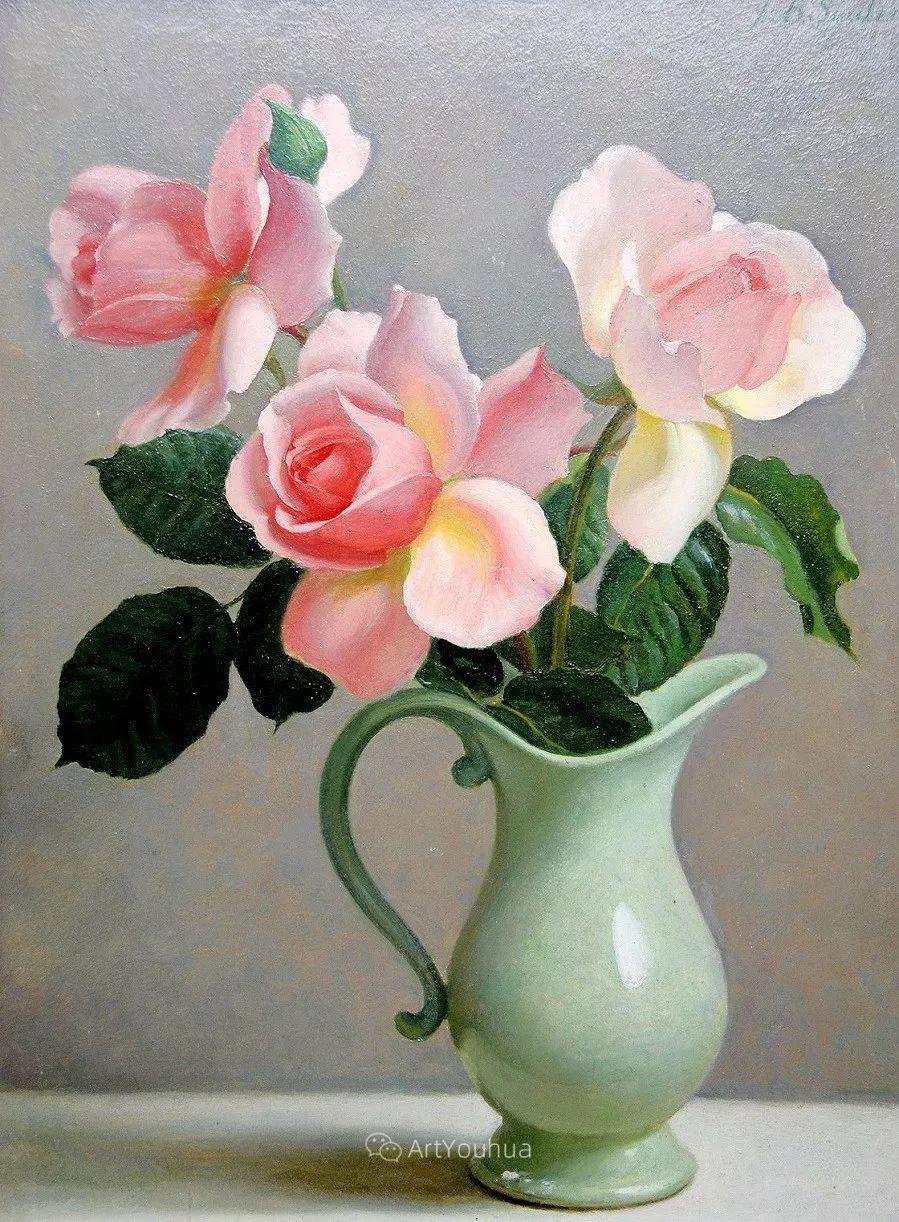 淡雅花卉静物,英国艺术家John Bulloch Souter插图16
