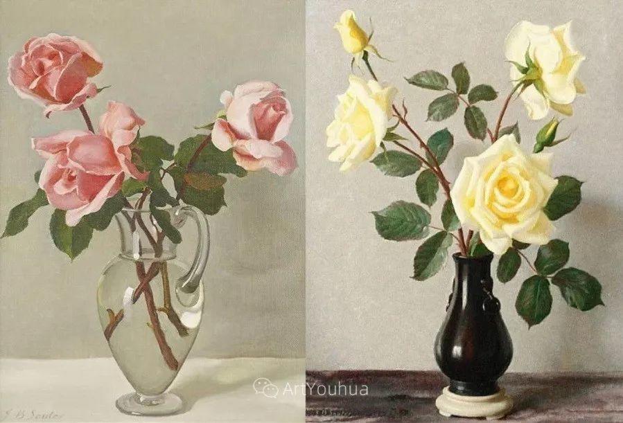 淡雅花卉静物,英国艺术家John Bulloch Souter插图18