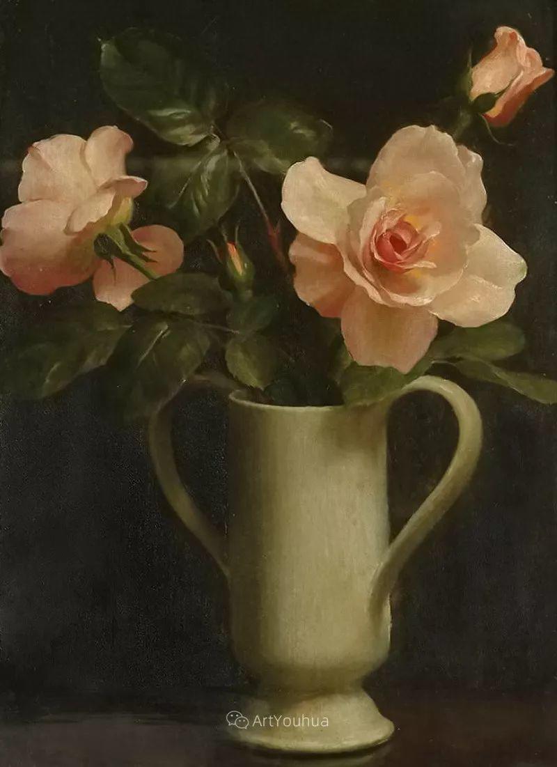 淡雅花卉静物,英国艺术家John Bulloch Souter插图20