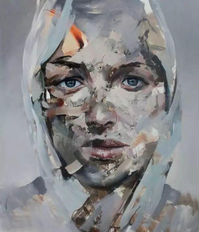 """""""破坏式""""肖像画,容颜是最虚伪的美丽,荷兰画家Daniel Martin插图2"""