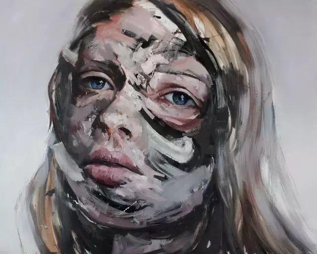 """""""破坏式""""肖像画,容颜是最虚伪的美丽,荷兰画家Daniel Martin插图3"""