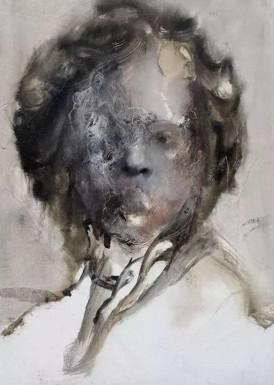 """""""破坏式""""肖像画,容颜是最虚伪的美丽,荷兰画家Daniel Martin插图4"""