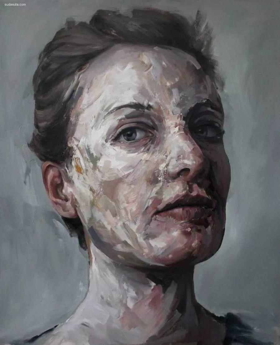 """""""破坏式""""肖像画,容颜是最虚伪的美丽,荷兰画家Daniel Martin插图14"""