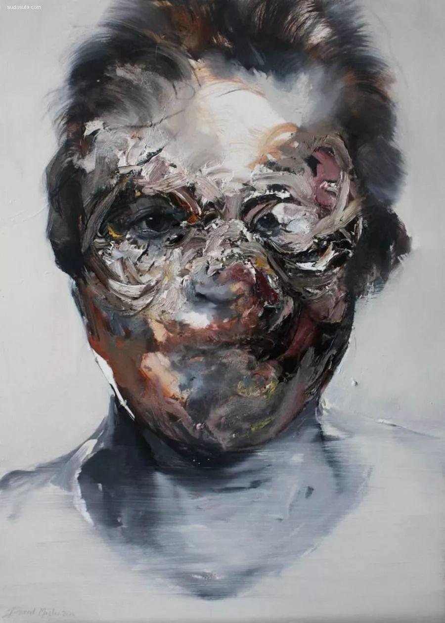 """""""破坏式""""肖像画,容颜是最虚伪的美丽,荷兰画家Daniel Martin插图15"""