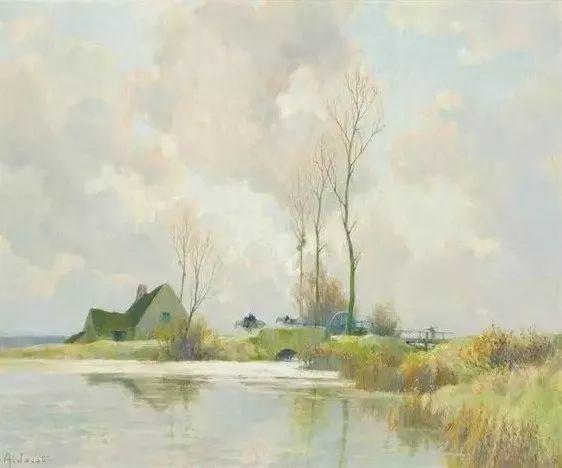 晨雾和树木的呼吸,迷人的朦胧美,法国画家Jacob Alexandre插图1