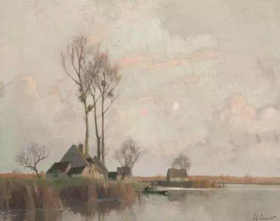 晨雾和树木的呼吸,迷人的朦胧美,法国画家Jacob Alexandre插图2