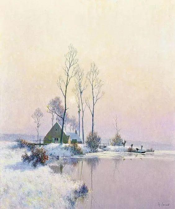 晨雾和树木的呼吸,迷人的朦胧美,法国画家Jacob Alexandre插图3