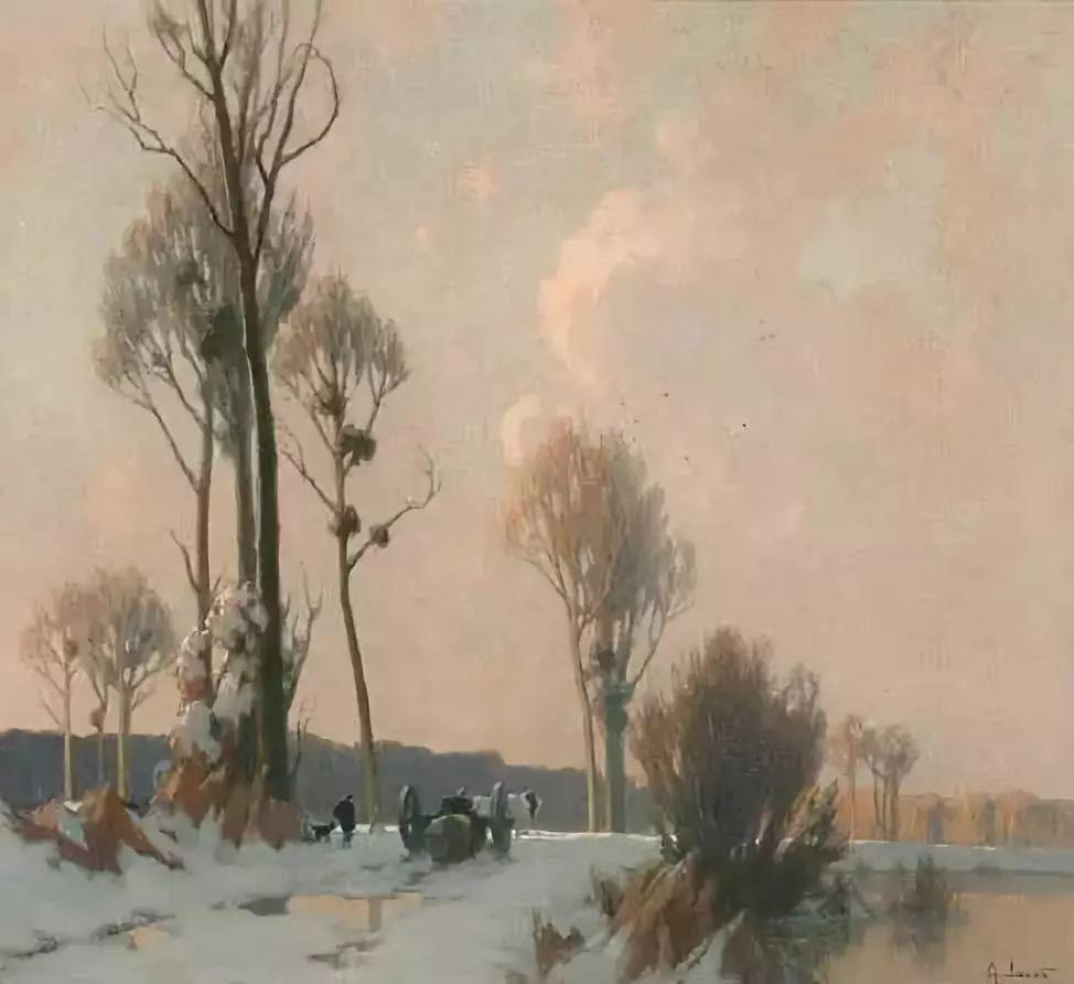 晨雾和树木的呼吸,迷人的朦胧美,法国画家Jacob Alexandre插图4