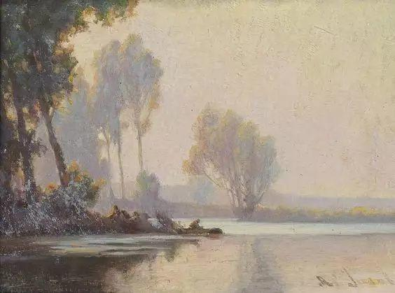晨雾和树木的呼吸,迷人的朦胧美,法国画家Jacob Alexandre插图5