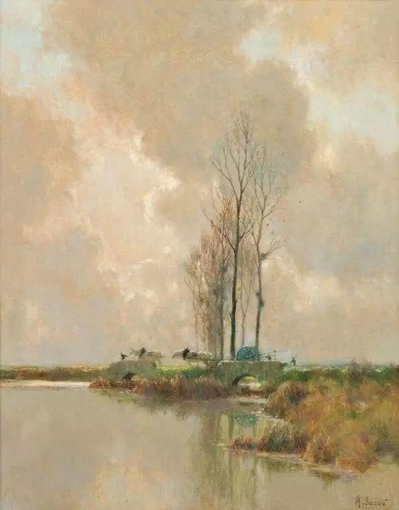 晨雾和树木的呼吸,迷人的朦胧美,法国画家Jacob Alexandre插图7