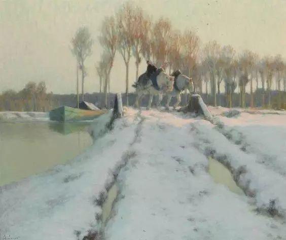 晨雾和树木的呼吸,迷人的朦胧美,法国画家Jacob Alexandre插图8