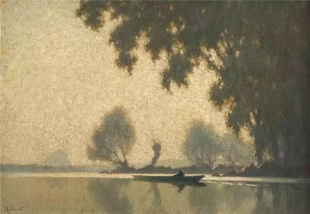 晨雾和树木的呼吸,迷人的朦胧美,法国画家Jacob Alexandre插图9
