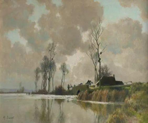 晨雾和树木的呼吸,迷人的朦胧美,法国画家Jacob Alexandre插图10