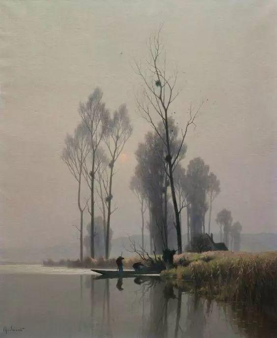晨雾和树木的呼吸,迷人的朦胧美,法国画家Jacob Alexandre插图11