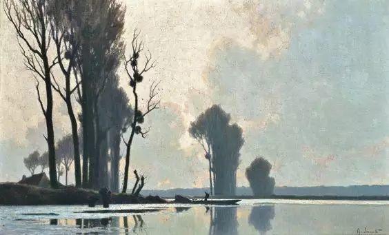 晨雾和树木的呼吸,迷人的朦胧美,法国画家Jacob Alexandre插图12