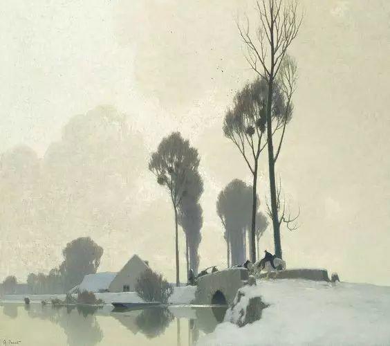 晨雾和树木的呼吸,迷人的朦胧美,法国画家Jacob Alexandre插图13