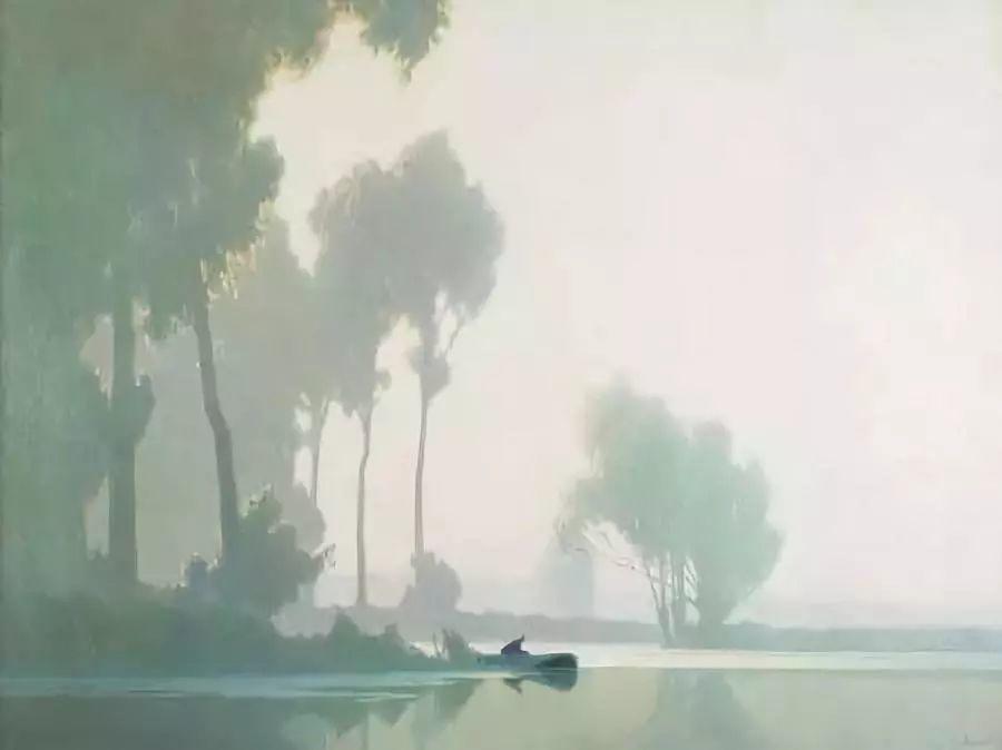 晨雾和树木的呼吸,迷人的朦胧美,法国画家Jacob Alexandre插图14