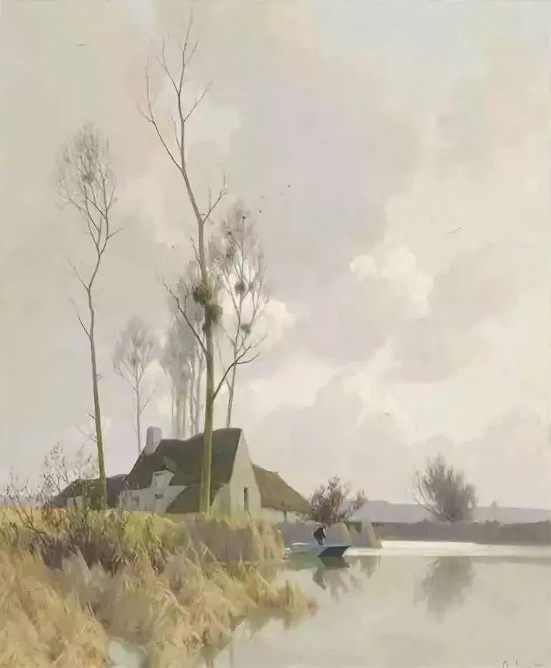 晨雾和树木的呼吸,迷人的朦胧美,法国画家Jacob Alexandre插图17