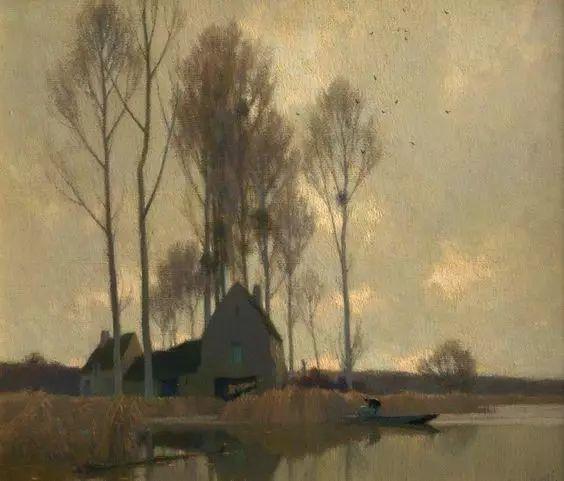 晨雾和树木的呼吸,迷人的朦胧美,法国画家Jacob Alexandre插图18
