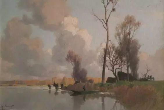 晨雾和树木的呼吸,迷人的朦胧美,法国画家Jacob Alexandre插图19
