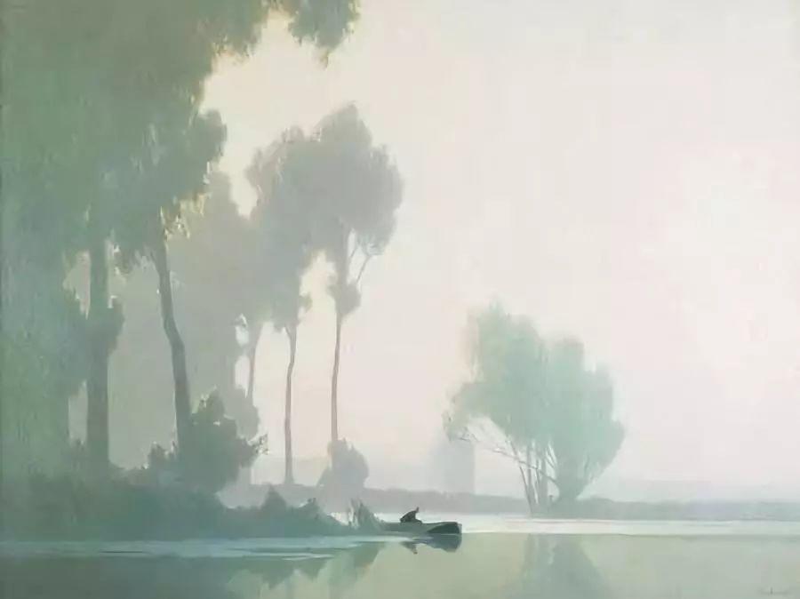 晨雾和树木的呼吸,迷人的朦胧美,法国画家Jacob Alexandre插图21