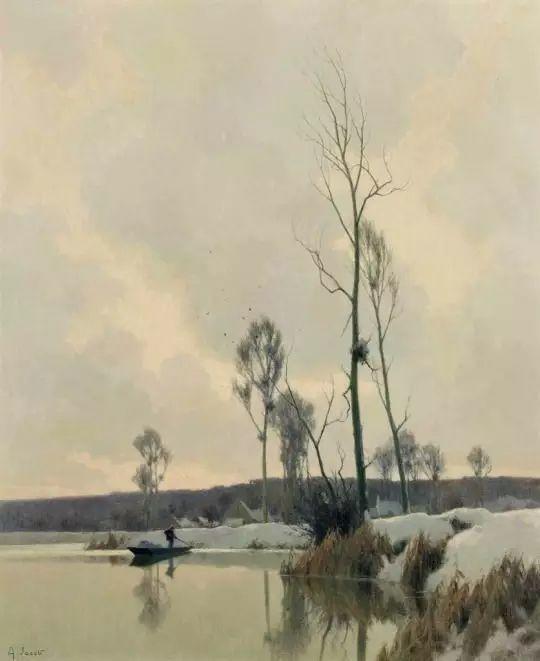晨雾和树木的呼吸,迷人的朦胧美,法国画家Jacob Alexandre插图22