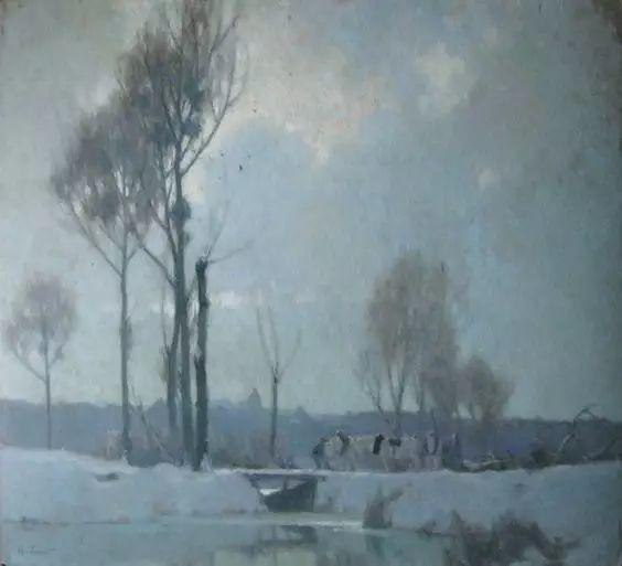 晨雾和树木的呼吸,迷人的朦胧美,法国画家Jacob Alexandre插图23