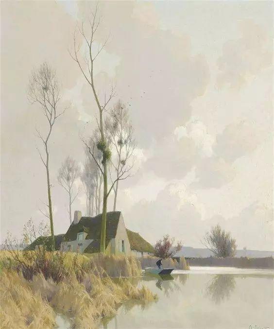 晨雾和树木的呼吸,迷人的朦胧美,法国画家Jacob Alexandre插图24