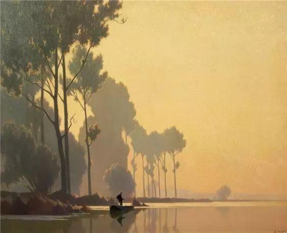 晨雾和树木的呼吸,迷人的朦胧美,法国画家Jacob Alexandre插图27