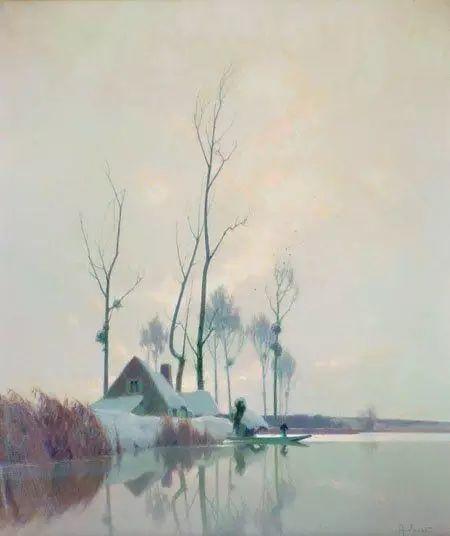 晨雾和树木的呼吸,迷人的朦胧美,法国画家Jacob Alexandre插图28