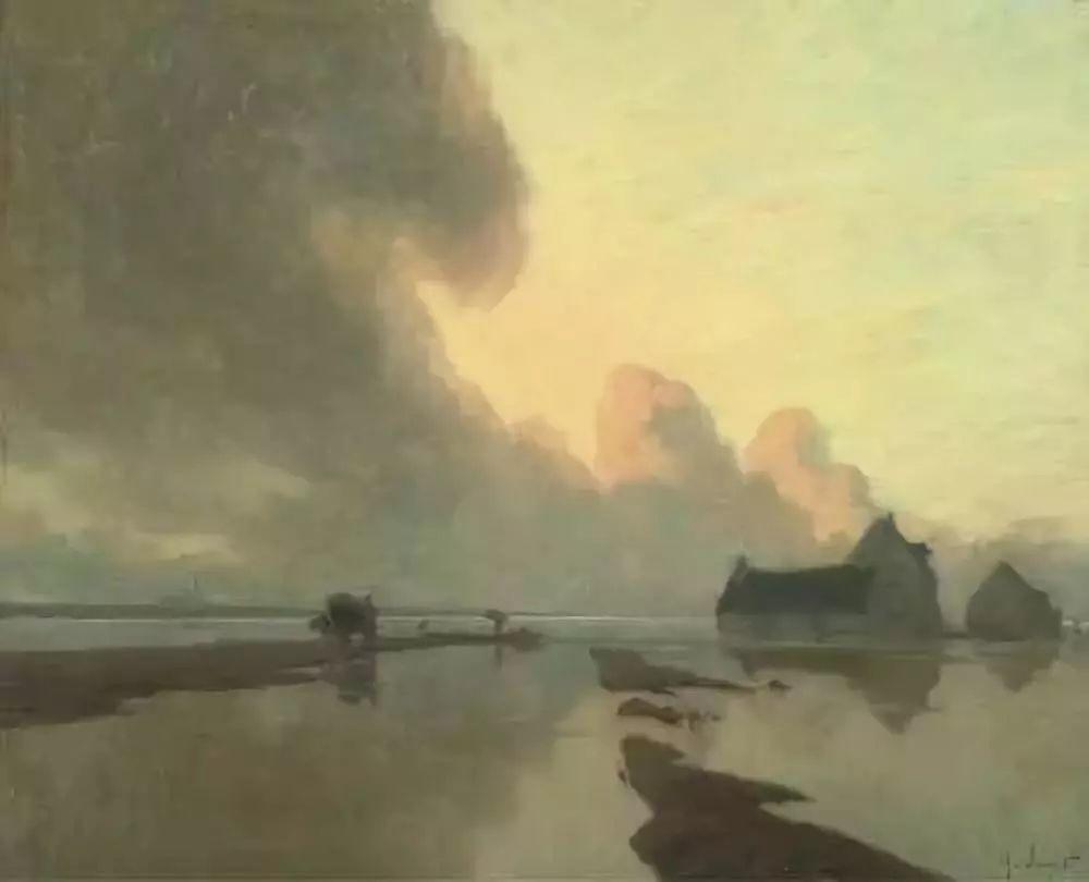晨雾和树木的呼吸,迷人的朦胧美,法国画家Jacob Alexandre插图29