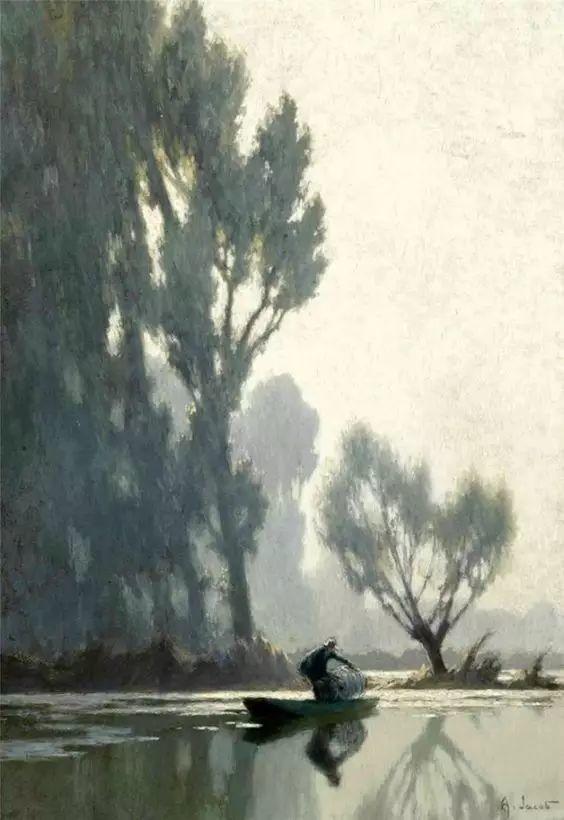 晨雾和树木的呼吸,迷人的朦胧美,法国画家Jacob Alexandre插图31