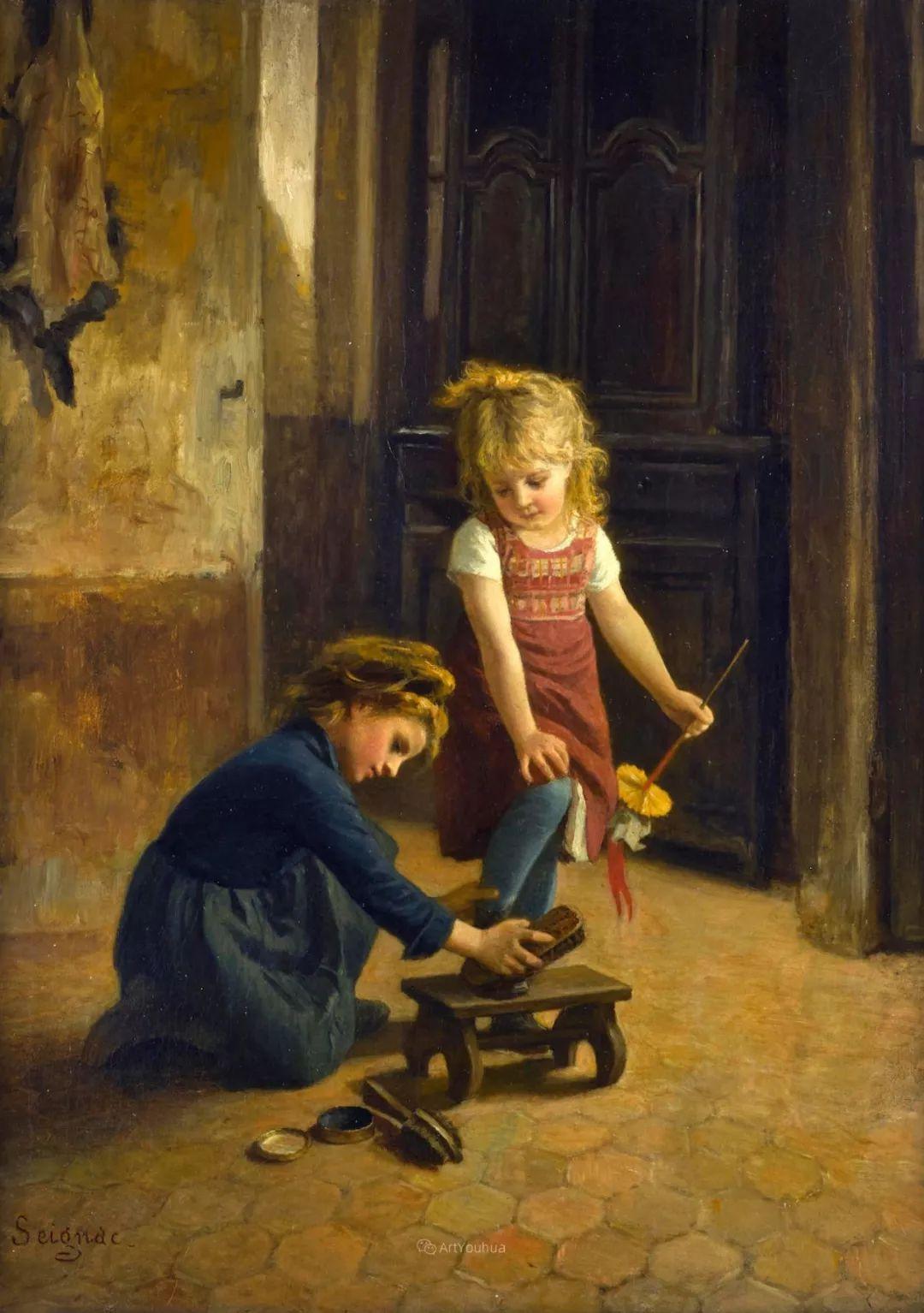 温馨充满爱意,法国画家Paul Guillaume Seignac插图8