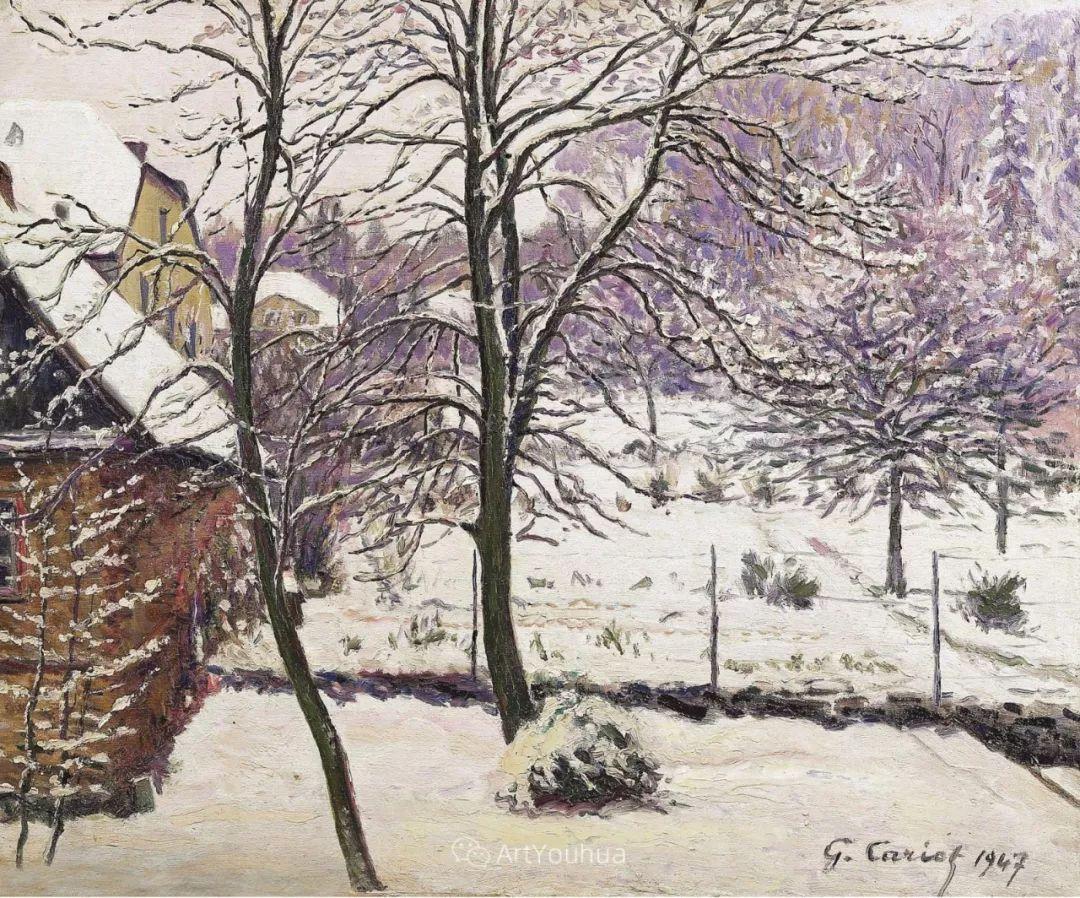 从未接受自己是印象派,法国著名画家Cariot插图45