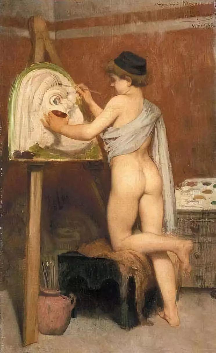 对不起,你的人像作品美到我了!法国学院派画家Jules Joseph Lefebvre插图7