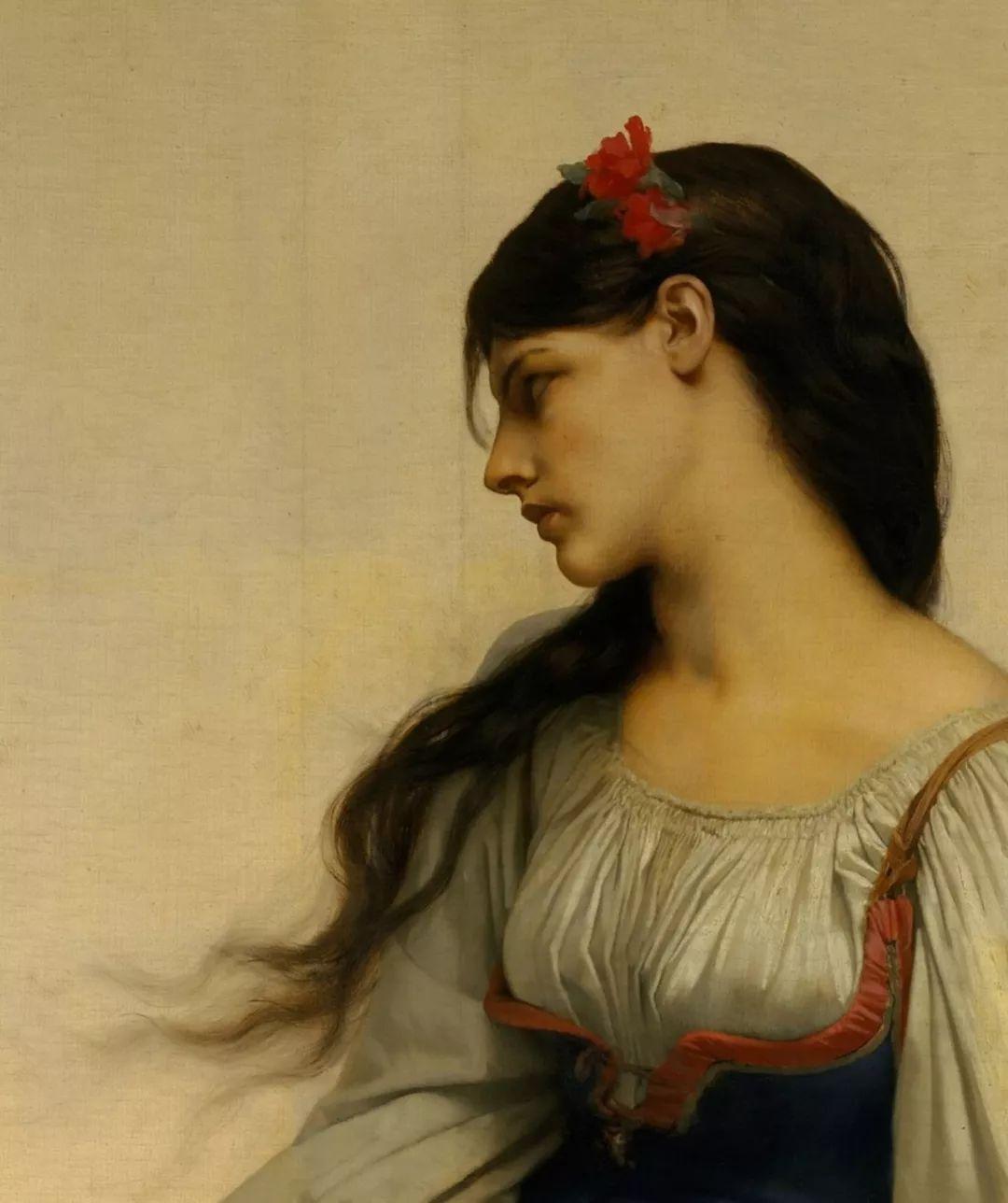 对不起,你的人像作品美到我了!法国学院派画家Jules Joseph Lefebvre插图9