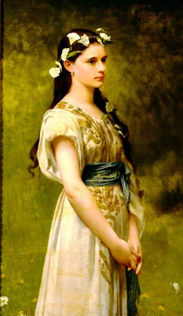 对不起,你的人像作品美到我了!法国学院派画家Jules Joseph Lefebvre插图21