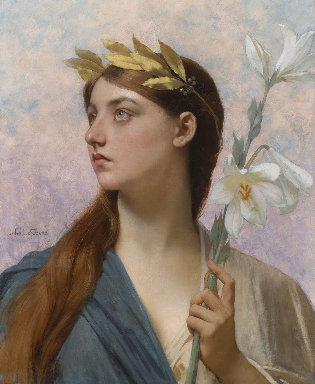 对不起,你的人像作品美到我了!法国学院派画家Jules Joseph Lefebvre插图23