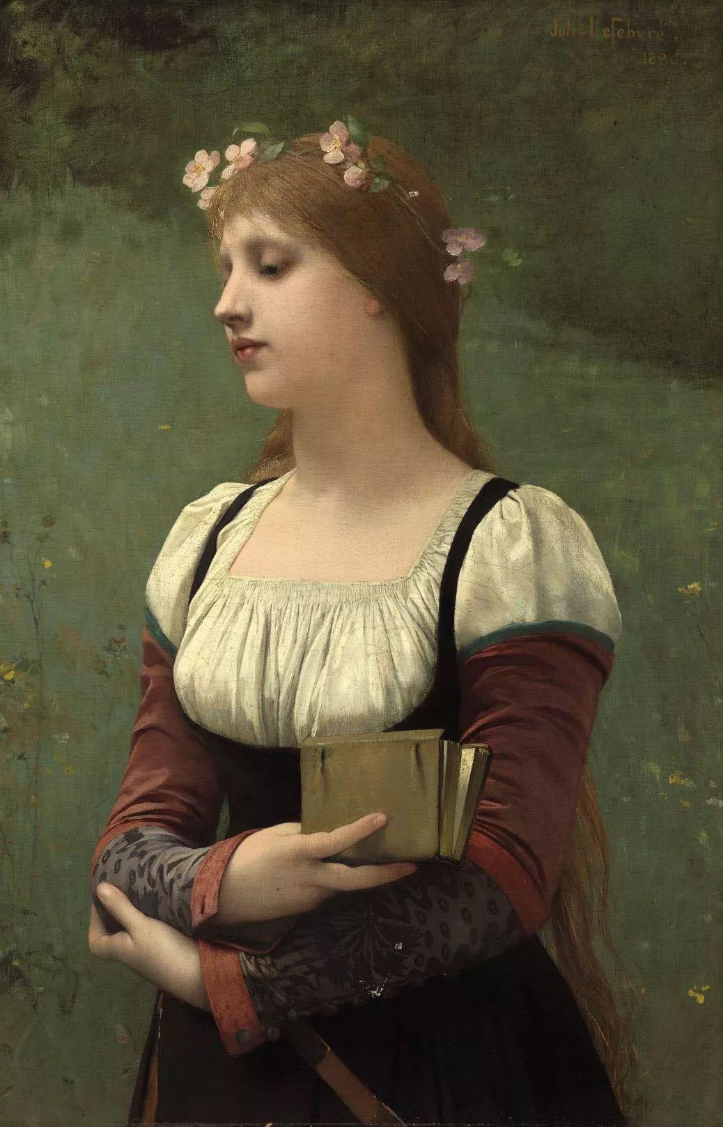 对不起,你的人像作品美到我了!法国学院派画家Jules Joseph Lefebvre插图25