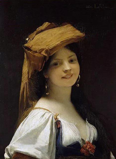 对不起,你的人像作品美到我了!法国学院派画家Jules Joseph Lefebvre插图31