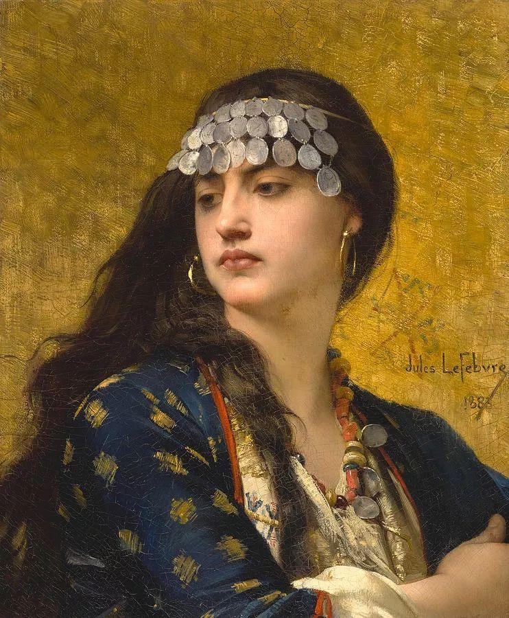 对不起,你的人像作品美到我了!法国学院派画家Jules Joseph Lefebvre插图37